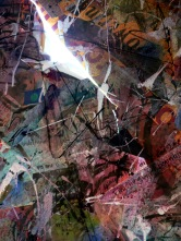 """72"""" x 96"""", mixed media, 2008"""