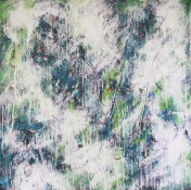 "30"" x 30"", latex paint on canvas, 2009"